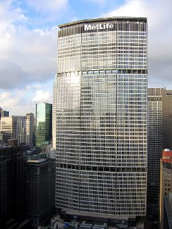 New York City, New York by 200 Park Avenue (MetLife Building) in Begin Again