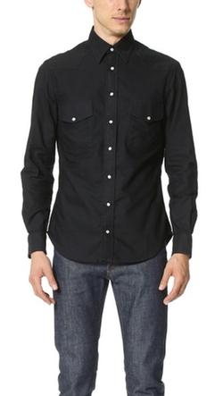 Overdye Oxford Western Shirt by Gitman Vintage in Empire