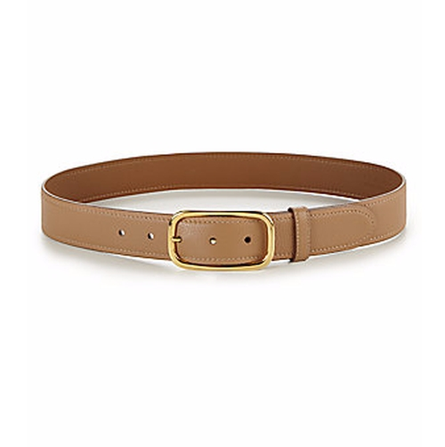 Daino Pebbled Leather Belt by Prada in Sisters