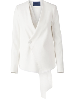 Wrap Hanging Lace Detail Blazer by Sharon Wauchob in Suits