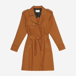 'Malory' Trench Coat by Sandro in Arrow