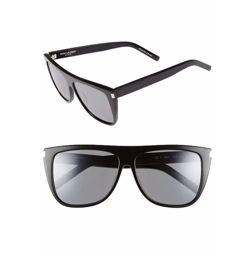 SL 1 Flat Top Sunglasses by Saint Laurent in Keeping Up With The Kardashians - Season 13 Episode 14