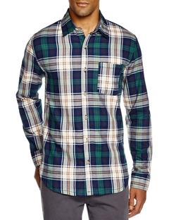 Prescott Plaid Regular Fit Button Down Shirt by Sovereign Code in New Girl
