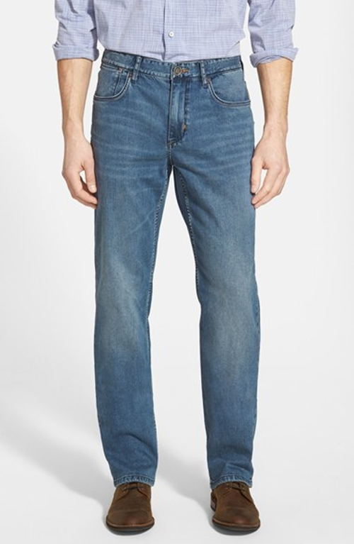 Denim 'Dallas' Authentic Fit Straight Leg Jeans by Tommy Bahama in Me and Earl and the Dying Girl