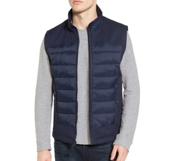 Quilted Vest by Black Rivet in Love, Simon
