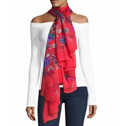 Elysian Paradise Floral Silk Scarf by Liberty London in House of Cards