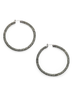 Stone Hoop Earrings by ABS by Allen Schwartz Jewelry in Pitch Perfect 2
