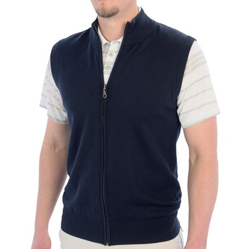 Mercerized Merino Wool Vest by Smith & Tweed in Barely Lethal