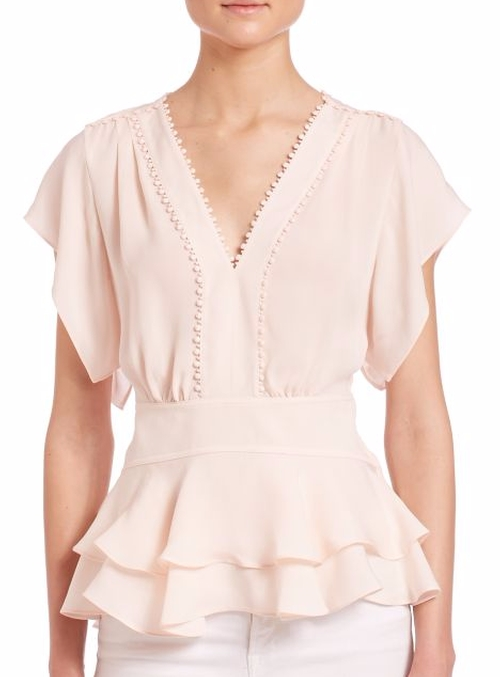Ruffle Silk Blouse (Modified) by Rebecca Taylor in Arrow