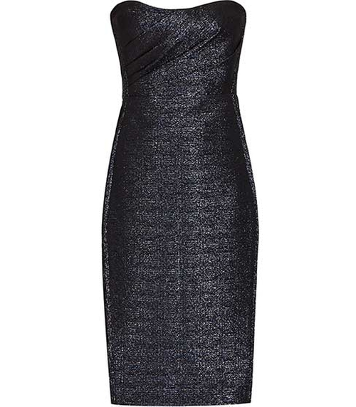 Marilyn Midnight Structured Bandeau Dress by Reiss in Empire - Season 2 Episode 13