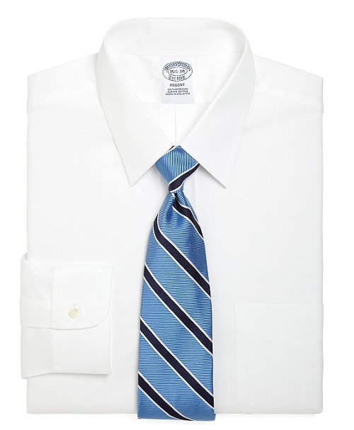 Non-Iron Regent Fit Point Collar Dress Shirt by Brooks Brothers in While We're Young