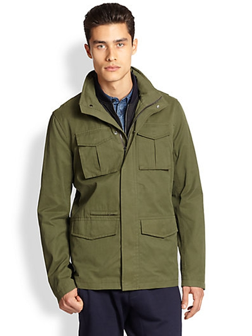 Men's Zip-Front Military Jacket by Vince in The Gunman