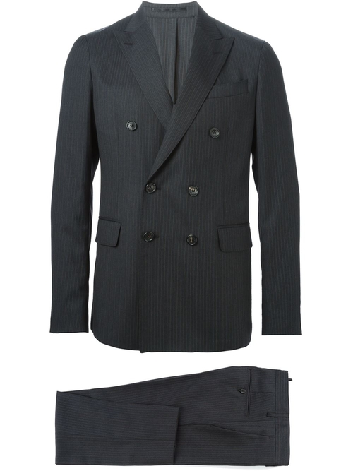 Striped Two Piece Suit by Dsquared2 in Black Mass