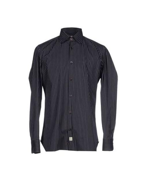 Pinstripe Dress Shirt by Luigi Borrelli Napoli in Cut Bank