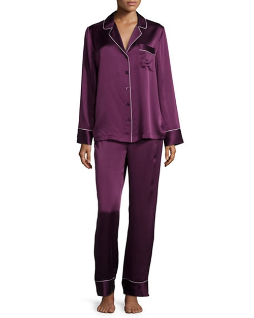 Silk Satin Two-Piece Pajama Set by Neiman Marcus in The Boss
