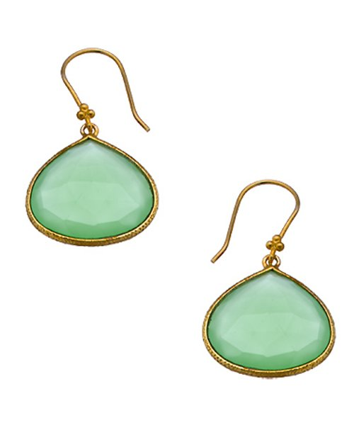 Chalcedony Earrings by Charlene K in Black or White