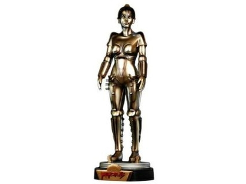 Metropolis Scale Maria Statue by Hollywood Collectibles Group in The Big Bang Theory - Season 9 Episode 4