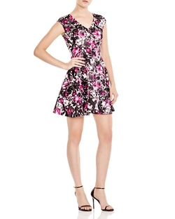 Floral V Neck Scuba Dress by AQUA in The Big Bang Theory