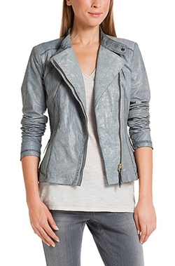 Biker Jacket 'Junama' In Goatskin by Boss Orange in Arrow