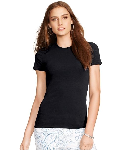 Crew-Neck T-Shirt by Lauren Ralph Lauren in Barely Lethal