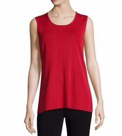 Round-Neck Sleeveless Tank Top by Misook in The Ranch