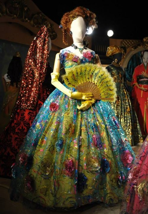 Custom Made Yellow Floral Tacky Ball Gown (Drizella) by Sandy Powell (Costume Designer) in Cinderella