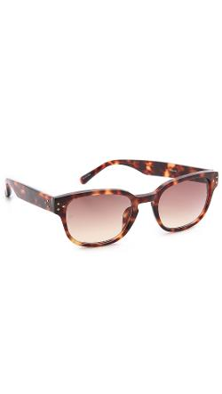 Tortoiseshell Sunglasses by Linda Farrow in Yves Saint Laurent