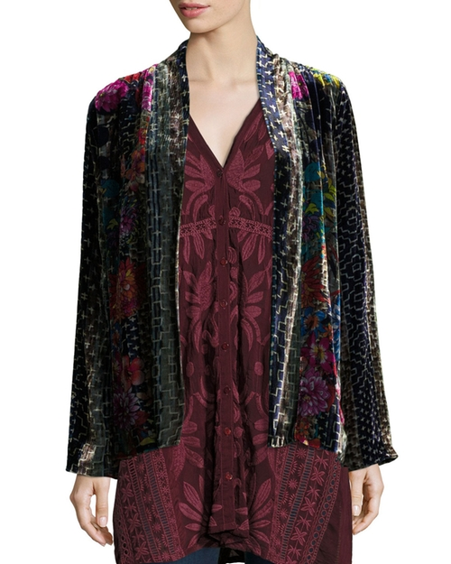 Tappa Silky Velvet Print Jacket by Johnny Was in Empire - Season 3 Episode 3