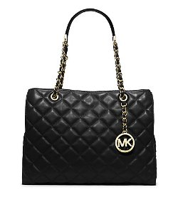 Susannah Large Quilted-Leather Tote by Michael Kors in That Awkward Moment