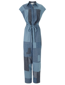 Cotton Chambray Patchwork Jumpsuit by 3.1 Phillip Lim in Empire