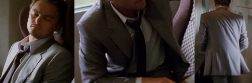 Custom Made Gray Textured Tie by Jeffrey Kurland (Costume Designer) in Inception
