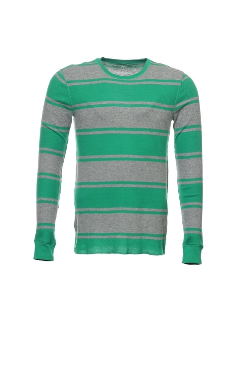Wide Horizontal Striped Thermal Shirt by American Rag in Boyhood