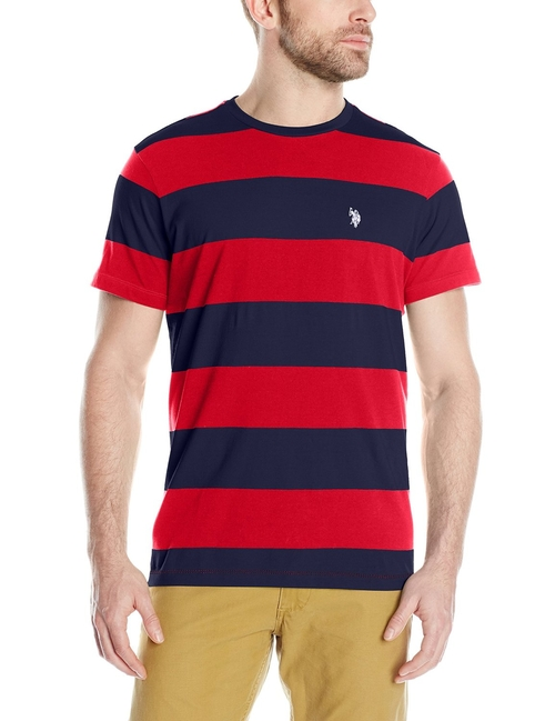 Men's Wide Stripe T-Shirt by U.S. Polo Assn. in Vacation
