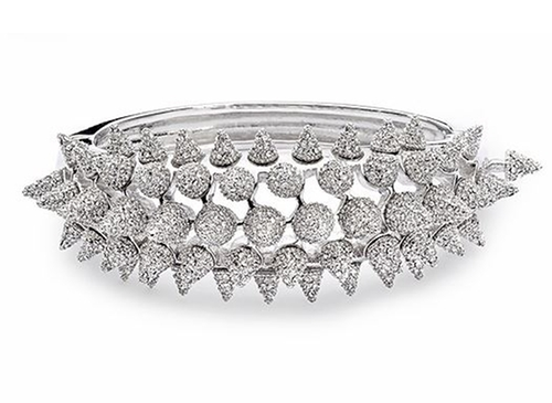 Spikes & Clear Crystal Pavé Bracelet by Kalix Collection in Keeping Up With The Kardashians - Season 11 Episode 13