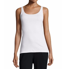 Organic Cotton Slim Tank Top by Eileen Fisher in Rosewood