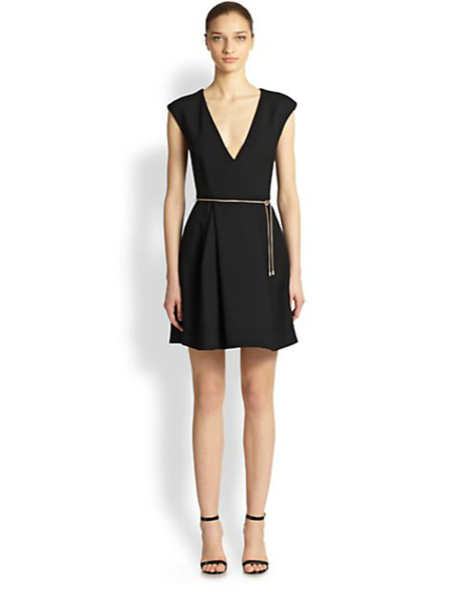 Plunging V-Neck Dress by Roberto Cavalli in Savages