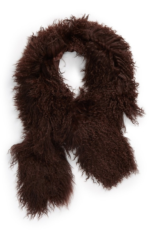 Genuine Lamb's Fur Boa Scarf by Toria Rose in Regression