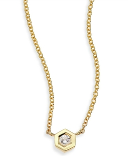 Hexagon Boutique Pendant Necklace by Ron Hami in Suits
