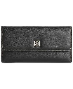 Softy Leather Back Zip Clutch by Giani Bernini Wallet in About Last Night