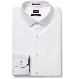 White Slim-Fit Cotton Shirt by Paul Smith London in Ant-Man