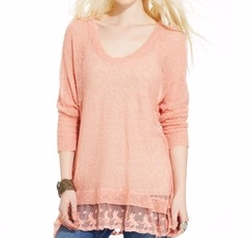 Lace Hem Knit Top by American Rag in Teen Wolf
