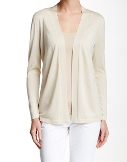 Long Sleeve Silk & Cashmere Cardigan by Lafayette 148 in Mother's Day