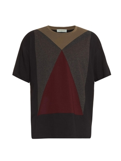 Block-Colour Cotton T-Shirt by Valentino in Empire