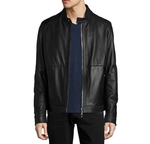 Classic Leather Biker Jacket by Hugo Boss in Lethal Weapon - Season 1 Episode 18