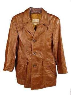 Vintage Metallic Leather Coat by Thebestvintageclothing in Anchorman 2: The Legend Continues