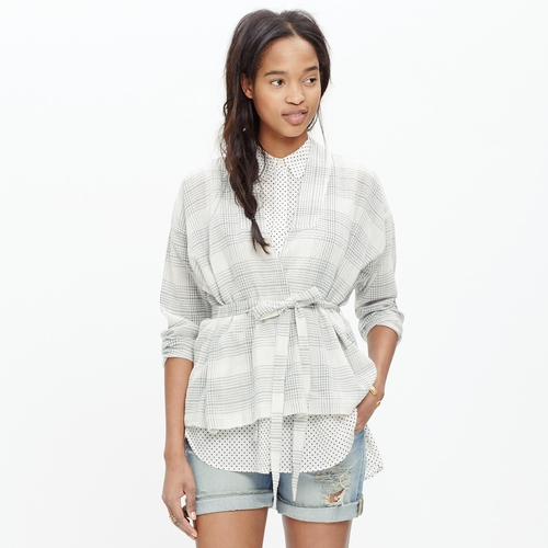 Tie-Waist Wrap Shirt by Madewell in Pretty Little Liars