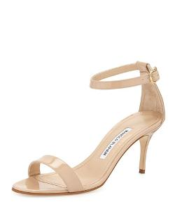 Chaos Patent Leather Sandal by Manolo Blahnik	 in The Other Woman
