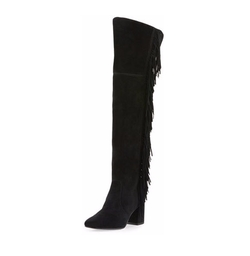 Jodi Fringe Suede Over-The-Knee Boots by Frye in Fuller House
