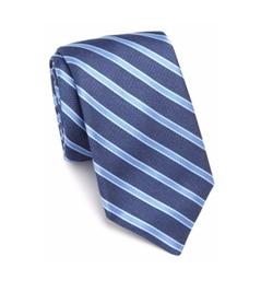 Striped Silk Tie by Ike Behar in Ballers