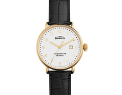Canfield Alligator Strap Watch by Shinola in Billions